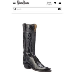"""1883 by Lucchese patent leather """"Dee Shiny"""" knee"""